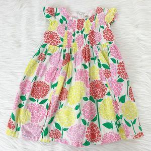 Mini Boden Floral Cap Sleeve Spring Girls Dress
